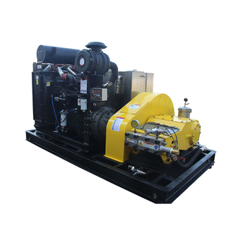 20000psi (1379bar) 110HP Diesel Power High Pressure Tube Water Cleaning Machine